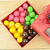 "Набор элитных шоколадных конфет ""Дражелино фундук №1"". Размер: 126х126х40мм, вес 300г"