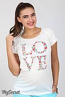 Летняя блуза Lira love для беременных, молочная