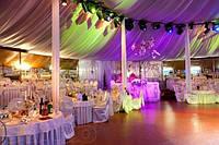 Оформление свадьбы тканями и цветами