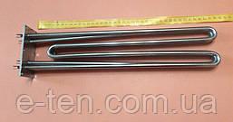 Блок тен (нержавійка) 9000W / 230V / L=380мм на прямокутному фланці 55мм*105мм (6 отворів) для електрокотла