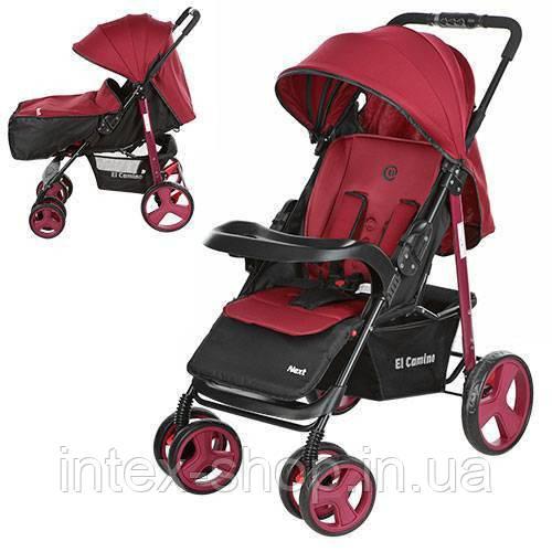 Детская коляска-трость Bambi Красная (M 3444-3 NEXT) с регулировкой спинки
