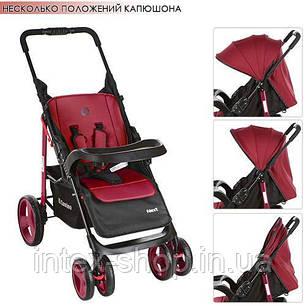 Детская коляска-трость Bambi Красная (M 3444-3 NEXT) с регулировкой спинки, фото 2