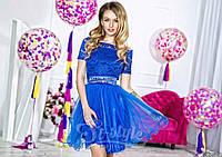 Модное пышное и изысканное женское платье