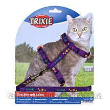 Шлейка с поводком для котов 22-36см/10мм, с рисунком, фото 3