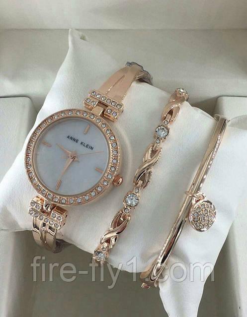 Женские часы Аnne Klein (Gold) c браслетами, фото 1