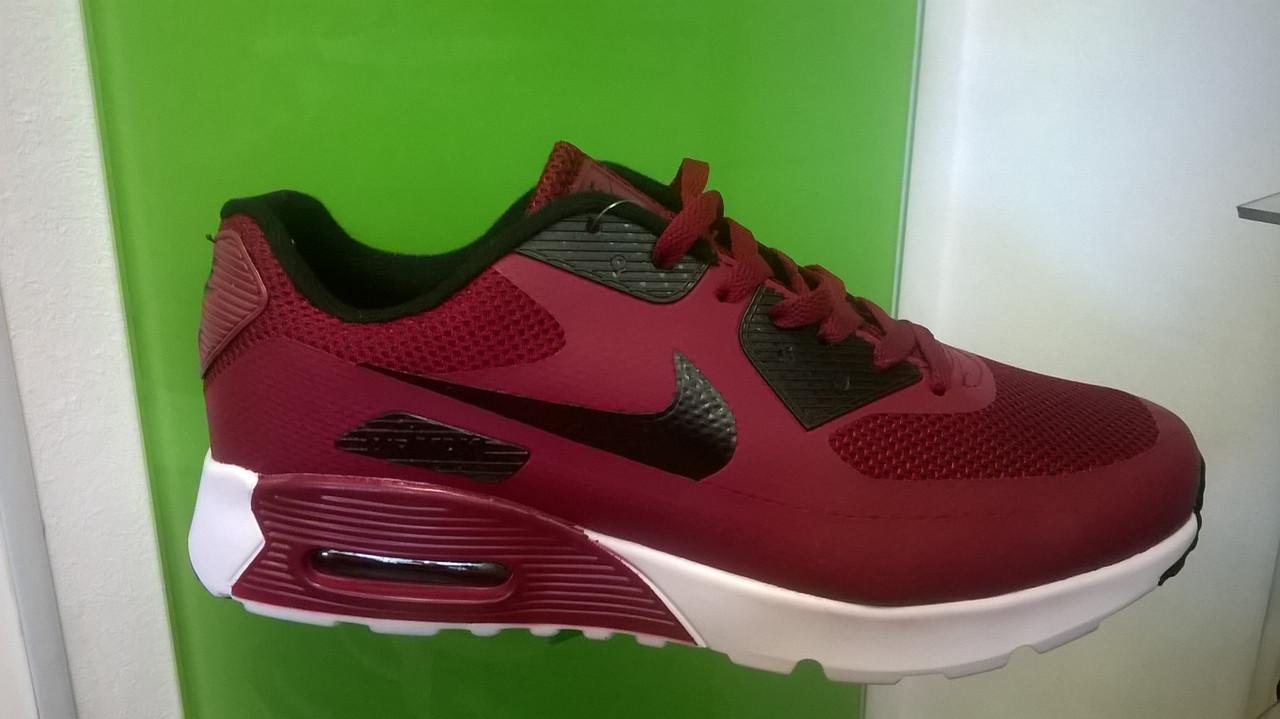 c8f1c2c10e62 Мужские кроссовки Nike air max 90 Hyperfuse бордовые с черным - Интернет  магазин krossovkiweb.kiev