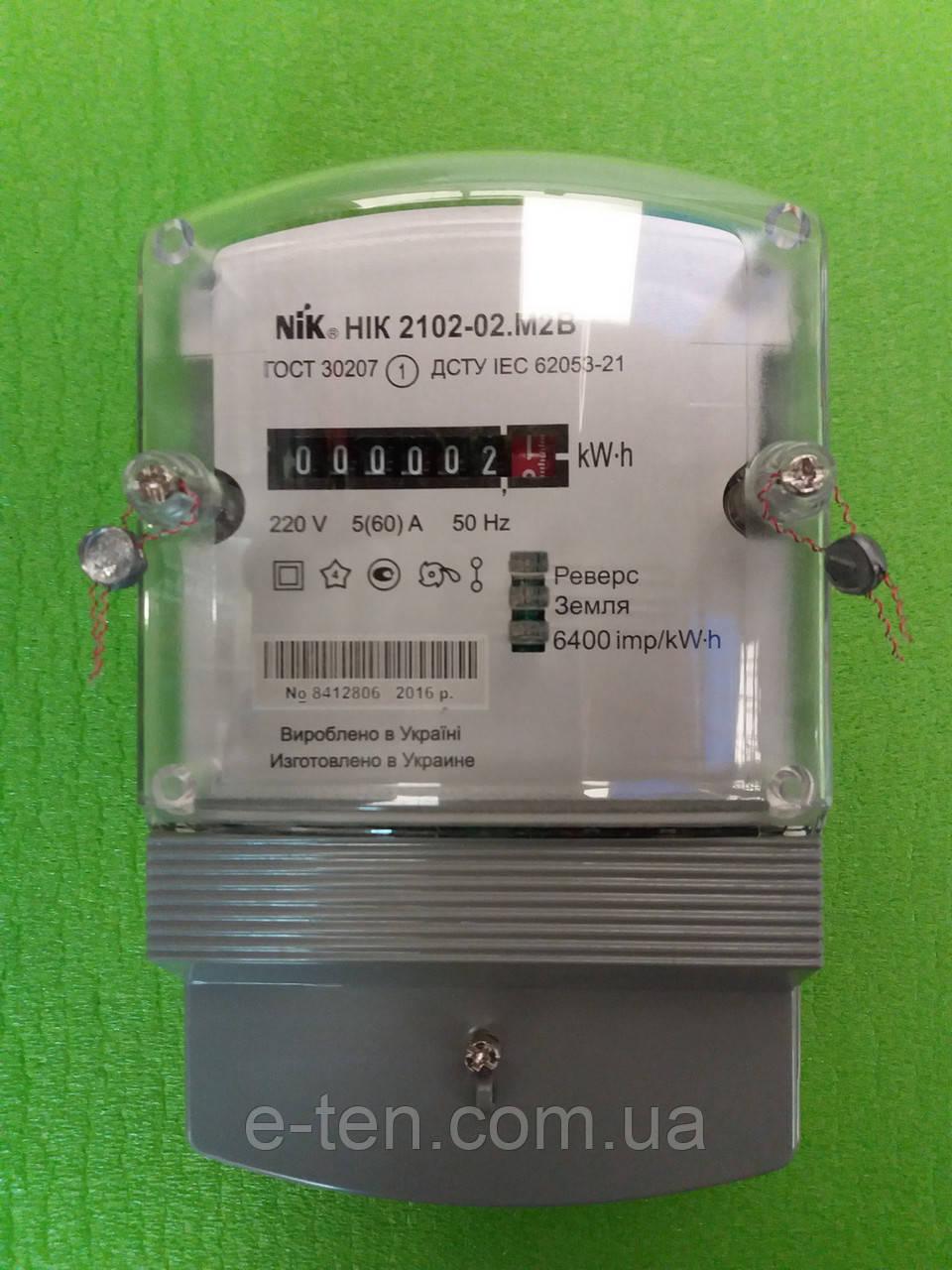 Счетчик учета электроэнергии однофазный НіК 2102-02М2В