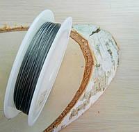 Метализированный трос 0,38мм серебро 1 м. (товар при заказе от 200 грн)