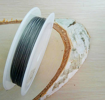 Метализированный трос 0,38 мм серебро 1 м