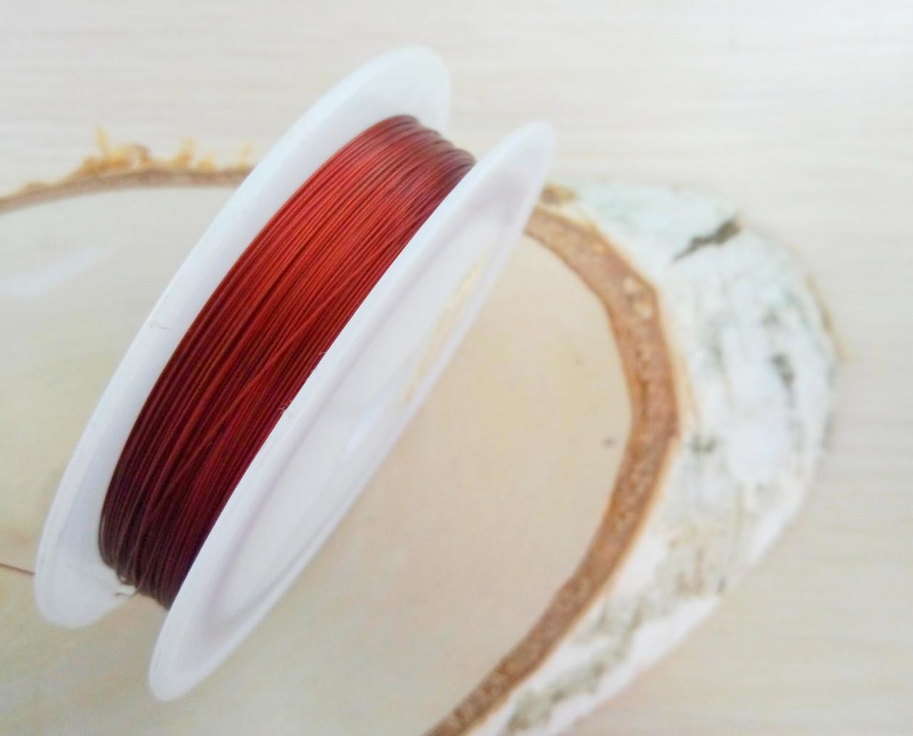 Метализированный трос 0,38мм красный 1 м. (товар при заказе от 200 грн) - магазин-студия Цацки в Чернигове