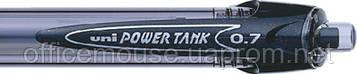 Ручка шариковая автомат uni POWER TANK 0.7мм синие чернила