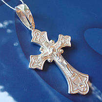 Серебряный крест с объемным распятием, 11 грамм, фото 3