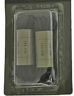 Шнурки хлопковые 80см чёрные MilTec 12909002