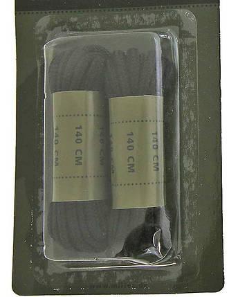 Шнурки хлопковые 80см чёрные MilTec 12909002, фото 2