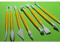 Набор инструментов желтый (стеки) для работы с мастикой