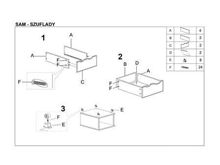 Ящики для кровати Sam (Halmar), фото 2