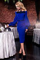 Красивое длинное платье с кружевом ручной работы (3 цвета)