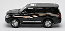 Машинка коллекционная Toyota Land Cruiser 200 Черная, фото 5
