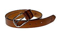 Кожаный ремень Casual, коньяк, фото 1