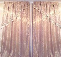 Комплект шелковых штор с вензелями