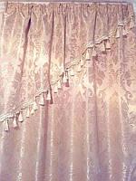 Комплект шелковых штор с вензелями 1