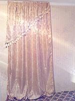 Комплект шелковых штор с вензелями 4