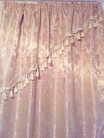 Комплект шелковых штор с вензелями 5