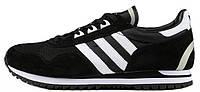 Мужские кроссовки Adidas Originals ZX400 Black (Адидас) черные