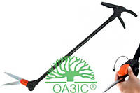 Ножницы для травы с удлиненной рукояткой и поворотным механизмом на 180 градусов, С814