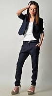 Женский льняной костюм пиджак и брюки чинос. Можно отдельно. , фото 1