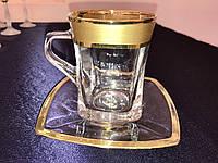 """Чашка с блюдцем чай """"Матовый Богемия фон"""" (чашка 270 мл + блюдце) на 6 персон"""
