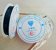 Проволока 0,6 мм 1 м.черная (товар при заказе от 200 грн)