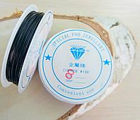 Проволока 0,8 мм 1 м.чёрная (товар при заказе от 200 грн)