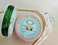 Проволока 0,8 мм 1 м.зелёная