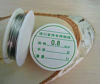 Проволока 0,8 мм 1 м.серебро