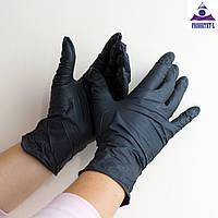 Черные нитриловые перчатки SafeTouch Black ТМ Medicom XL