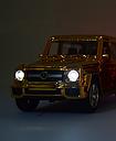 Мерседес игрушечный Gelenvagen G-63 гелик золотой 1:32, фото 3