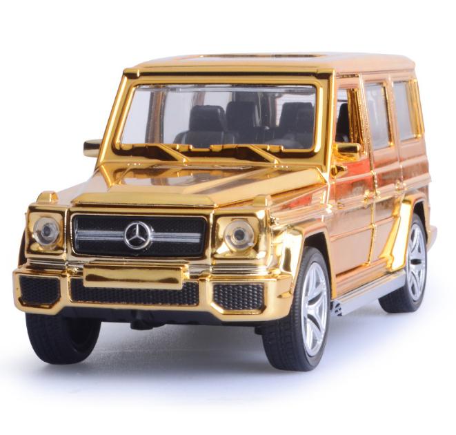 Мерседес игрушечный Gelenvagen G-63 гелик золотой 1:32