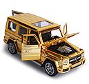 Мерседес игрушечный Gelenvagen G-63 гелик золотой 1:32, фото 2