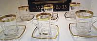 """Чайный набор """"Версаче Богемия фон"""" (чашка 270 мл + блюдце) на 6 персон"""