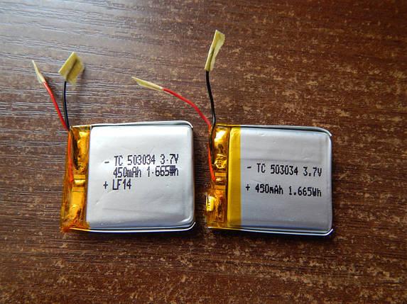 Аккумулятор, батарея для 450 mAh, 3,7 V 32*29, фото 2