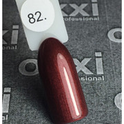 Гель лак Oxxi №082(бордовый с микроблеском),8 мл