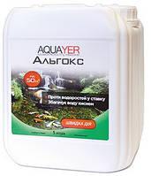 AQUAYER Альгокс – средство против зеленых водорослей в прудах.