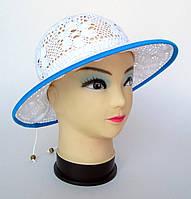"""Шляпка """"Клумба"""" для девочки голубая"""