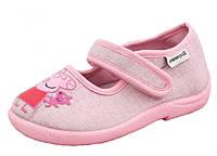 Детские ортопедические тапочки Шалунишка 200-100 р.31,32 Свинка Пеппа розовые