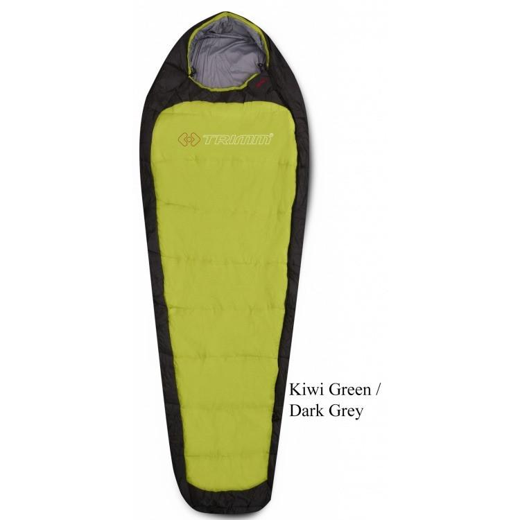 Спальник Trimm IMPACT kiwi green/dark grey зеленый 185 L