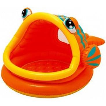 Детский надувной бассейн Intex  Ленивая рыбка с навесом 124х109х71 см (57109)