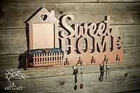 "Ключница ""Sweet Home"". Цвет орех"