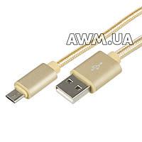 USB кабель KingFire MS-012 microUSB золотой