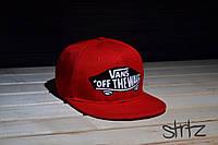 Красная рэперская кепка снепбек ванс,Vans Snapback Cap